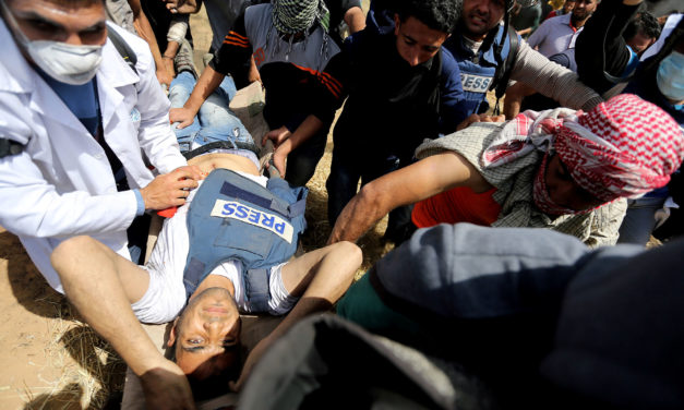 Press group condemns killing of Palestinian photojournalist reporting in Gaza