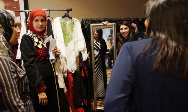 Middle Eastern bazaar attracts visitors to temporary marketplace