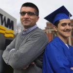 Hesham Sheikh helps a first-generation student attend college