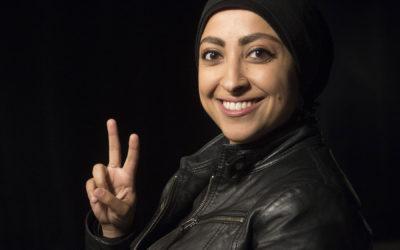 Maryam Al-Khawaja talks about survivor's guilt in Marquette democracy project