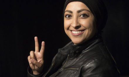 Maryam Al-Khawaja talks about survivor's guilt in Marquette democracy project