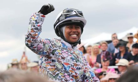 UK's first Muslim female jockey to ride in hijab celebrates historic win at Goodwood