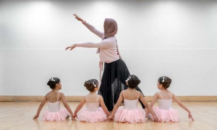 This ballet school is for Muslim kids and it uses poetry instead of music