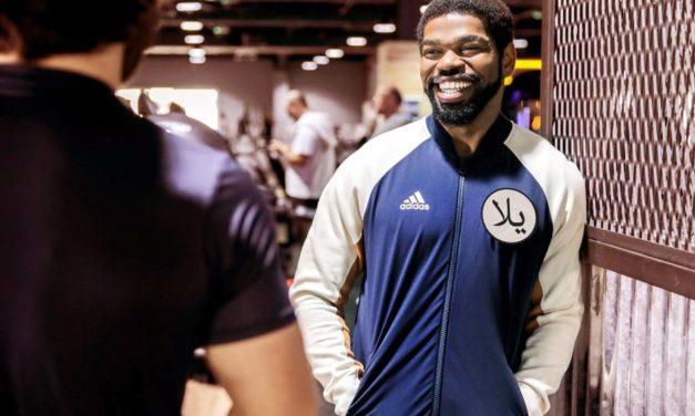 'Yalla' says Adidas with its new Arabic badge
