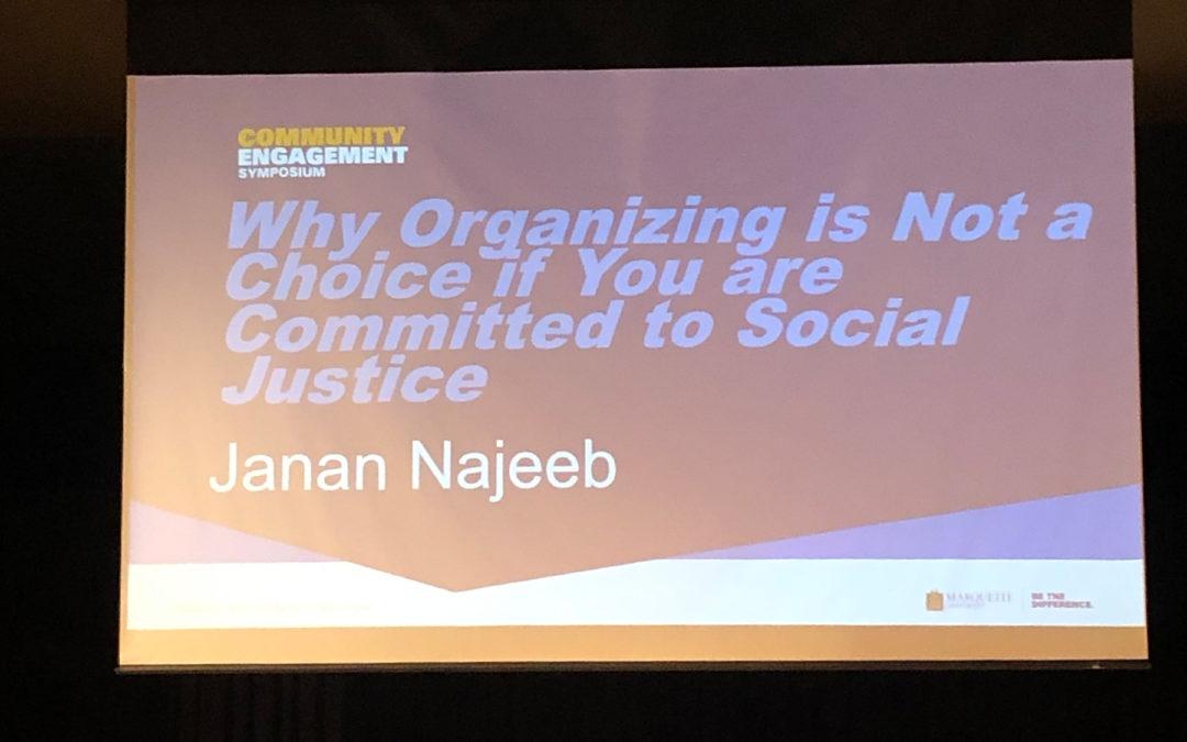Janan Najeeb Speaks to Hundreds at Marquette University Symposium
