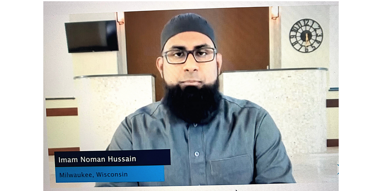 Wisconsin imam delivered a message of interfaith unity in a pre-DNC nationwide virtual prayer service.