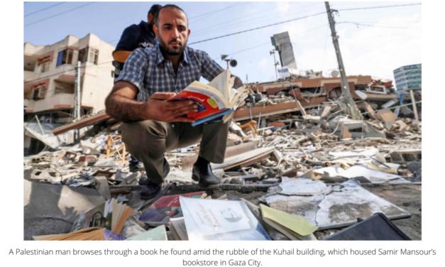 Donations pour in to rebuild Gaza bookshop