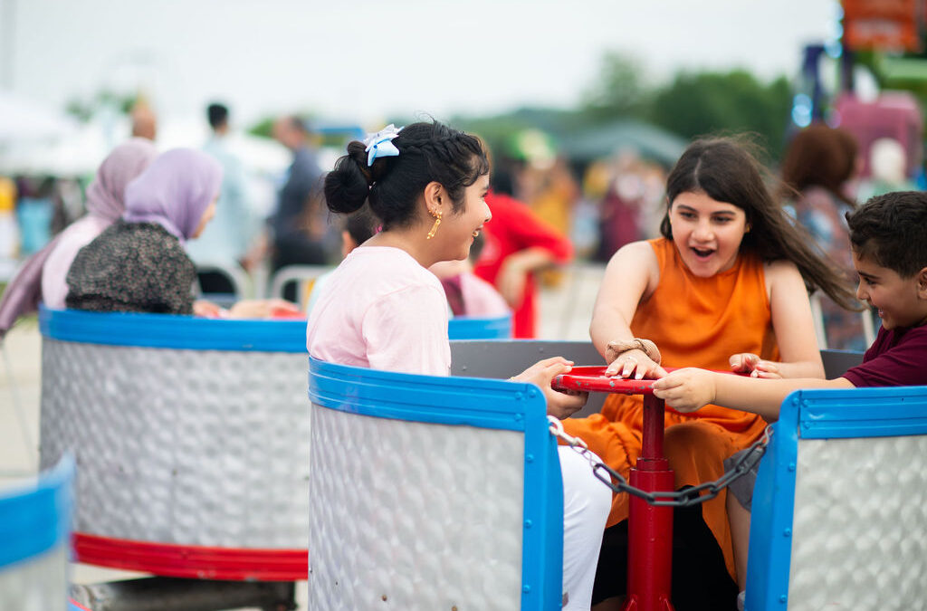 Thousands of Muslims gather for Eid ul Adha Festival