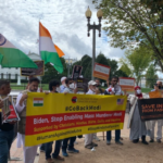Indian Americans protest outside White House over Modi's visit